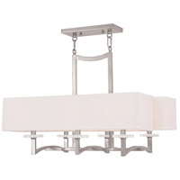 Livex Woodland Park 6 Light Chandelier in Brushed Nickel 50706-91