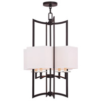 Livex Woodland Park 4 Light Foyer Chandelier in Olde Bronze 50707-67