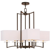 Livex 50708-67 Woodland Park 8 Light 31 inch Olde Bronze Chandelier Ceiling Light
