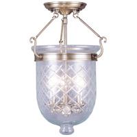 Livex 5072-01 Jefferson 3 Light 12 inch Antique Brass Ceiling Mount Ceiling Light