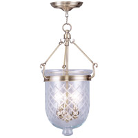 Livex Lighting Jefferson 3 Light Pendant in Antique Brass 5073-01