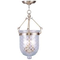 Livex 5073-01 Jefferson 3 Light 10 inch Antique Brass Pendant Ceiling Light
