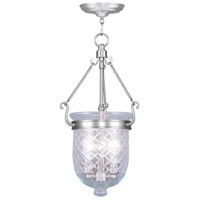 Livex Lighting Jefferson 3 Light Pendant in Brushed Nickel 5073-91