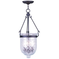 Livex Lighting Jefferson 3 Light Pendant in Bronze 5074-07