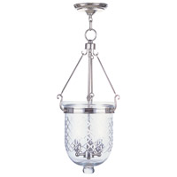Livex Lighting Jefferson 3 Light Pendant in Polished Nickel 5074-35