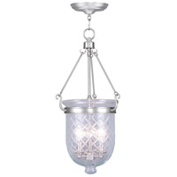 Livex Lighting Jefferson 3 Light Pendant in Brushed Nickel 5074-91