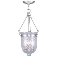 Livex 5074-91 Jefferson 3 Light 12 inch Brushed Nickel Pendant Ceiling Light