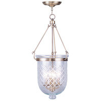 Livex Lighting Jefferson 4 Light Pendant in Antique Brass 5075-01