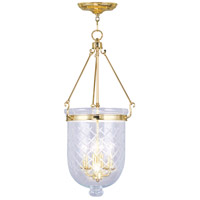 Livex Lighting Jefferson 4 Light Pendant in Polished Brass 5075-02