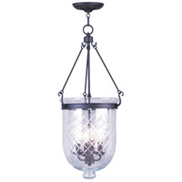Livex Lighting Jefferson 4 Light Pendant in Bronze 5075-07