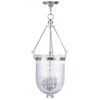 Livex Lighting Jefferson 4 Light Pendant in Polished Nickel 5075-35