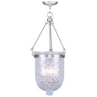 Livex Lighting Jefferson 4 Light Pendant in Brushed Nickel 5075-91
