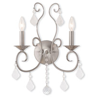 Livex Lighting Donatella 2 Light Wall Sconce in Brushed Nickel 50762-91