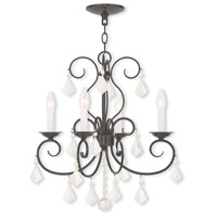 Donatella 4 Light 19 inch English Bronze Mini Chandelier Ceiling Light