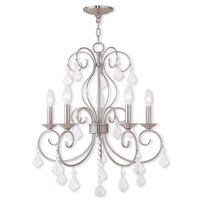 Livex Lighting Donatella 5 Light Chandelier in Brushed Nickel 50765-91