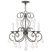 Livex 50765-92 Donatella 5 Light 22 inch English Bronze Mini Chandelier Ceiling Light