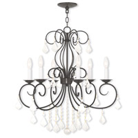 Donatella 6 Light 25 inch English Bronze Chandelier Ceiling Light