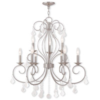 Livex Lighting Donatella 9 Light Chandelier in Brushed Nickel 50769-91