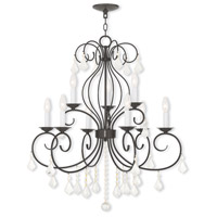 Livex 50769-92 Donatella 9 Light 29 inch English Bronze Chandelier Ceiling Light