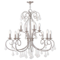 Donatella 12 Light 35 inch Brushed Nickel Chandelier Ceiling Light