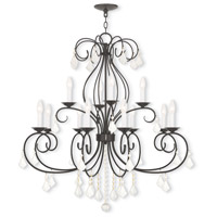 Donatella 12 Light 35 inch English Bronze Chandelier Ceiling Light