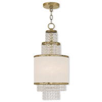 Livex 50780-28 Prescott 2 Light 10 inch Hand Applied Winter Gold Mini Chandelier Ceiling Light