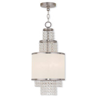Livex 50780-91 Prescott 2 Light 10 inch Brushed Nickel Mini Chandelier Ceiling Light