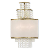 Livex Lighting Prescott 2 Light Wall Sconce in Hand Applied Winter Gold 50782-28