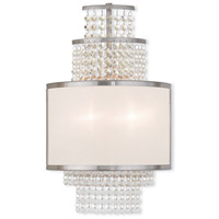 Livex Lighting Prescott 2 Light Wall Sconce in Brushed Nickel 50782-91
