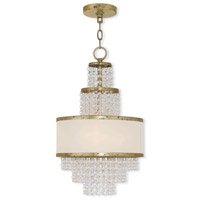 Livex 50783-28 Prescott 3 Light 12 inch Hand Applied Winter Gold Mini Chandelier Ceiling Light