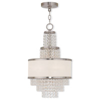 Prescott 3 Light 12 inch Brushed Nickel Mini Chandelier Ceiling Light