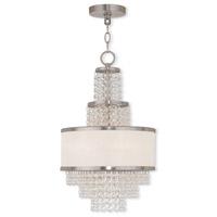 Livex 50783-91 Prescott 3 Light 12 inch Brushed Nickel Mini Chandelier Ceiling Light