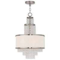 Livex Lighting Prescott 3 Light Mini Chandelier in Brushed Nickel 50784-91
