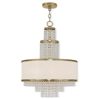 Livex 50785-28 Prescott 5 Light 18 inch Hand Applied Winter Gold Chandelier Ceiling Light