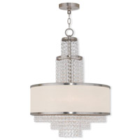 Livex 50785-91 Prescott 5 Light 18 inch Brushed Nickel Chandelier Ceiling Light