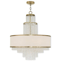 Prescott 6 Light 24 inch Hand Applied Winter Gold Chandelier Ceiling Light