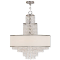 Livex Lighting Prescott 6 Light Chandelier in Brushed Nickel 50786-91