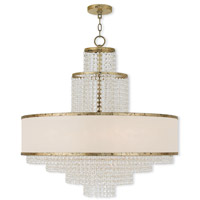 Livex 50788-28 Prescott 8 Light 30 inch Hand Applied Winter Gold Chandelier Ceiling Light