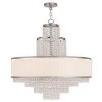 Livex Lighting Prescott 8 Light Chandelier in Brushed Nickel 50788-91