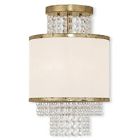 Livex Lighting Prescott 2 Light Flush Mount in Hand Applied Winter Gold 50792-28
