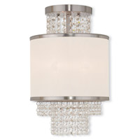 Livex Lighting Prescott 2 Light Flush Mount in Brushed Nickel 50792-91
