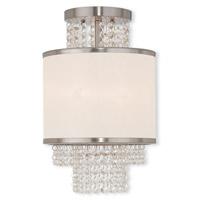 Livex 50792-91 Prescott 2 Light 10 inch Brushed Nickel Flush Mount Ceiling Light