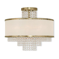 Livex Lighting Prescott 5 Light Flush Mount in Hand Applied Winter Gold 50795-28