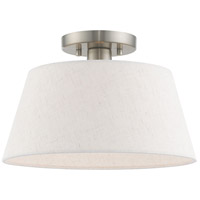 Livex 50802-91 Belclaire 1 Light 13 inch Brushed Nickel Flush Mount Ceiling Light