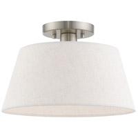 Livex 50802-91 Belclaire 1 Light 13 inch Brushed Nickel Flush Mount Ceiling Light