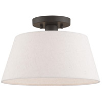 Livex 50802-92 Belclaire 1 Light 13 inch English Bronze Flush Mount Ceiling Light
