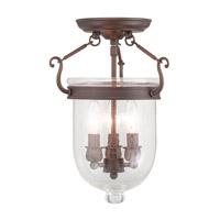 Jefferson 3 Light 10 inch Imperial Bronze Ceiling Mount Ceiling Light in Seeded