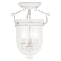 Livex Jefferson 3 Light Flush Mount in Antique White 5081-60
