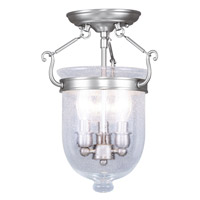Livex Lighting Jefferson 3 Light Ceiling Mount in Brushed Nickel 5081-91
