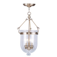 Livex Lighting Jefferson 3 Light Pendant in Antique Brass 5083-01